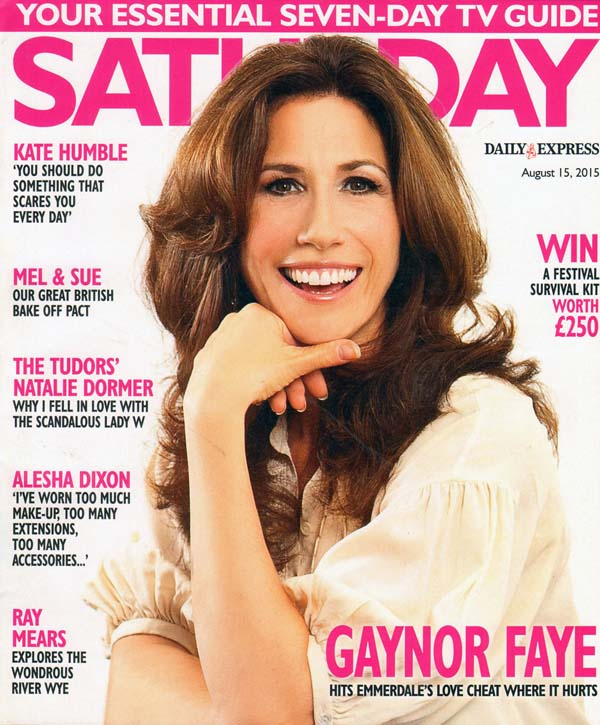 A head and shoulders portrait of acress Gaynor Faye.