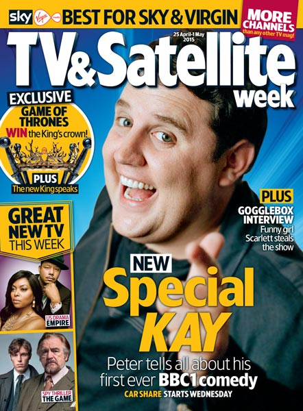 Comedian Peter Kay on the front cover of a magazine.